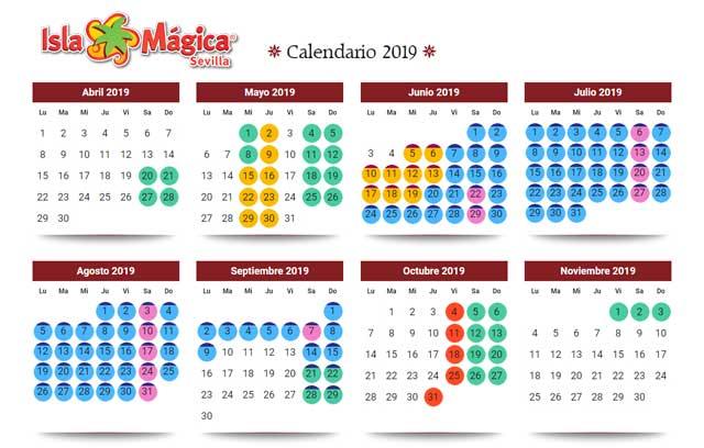 Calendario Sevilla.Temporada 2019 En Isla Magica De Sevilla Onsevilla