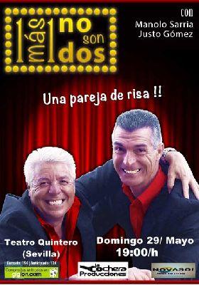 Humor: 1 más 1 no son dos en el Teatro Quintero de Sevilla