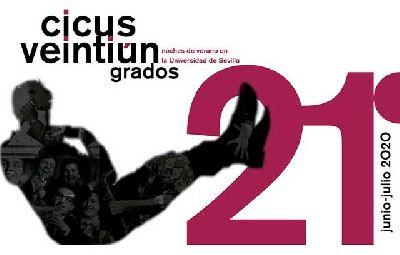 Cartel del ciclo estival 21 Grados 2020 del Centro de Iniciativas Culturales de la Universidad de Sevilla (CICUS)