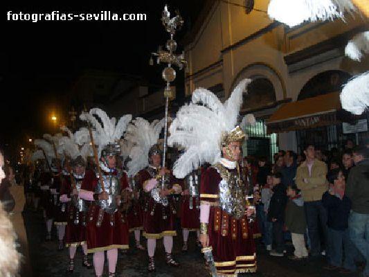 Foto de la Centuria Romana de la Hermandad de la Macarena de la Semana Santa de Sevilla