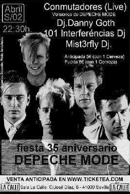 Fiesta 35 Años de Depeche Mode en sala La Calle Sevilla