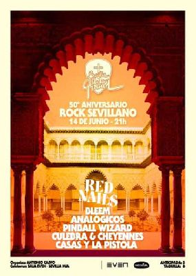 Cartel del concierto de 50 aniversario del rock sevillano en la Sala Even Sevilla 2019