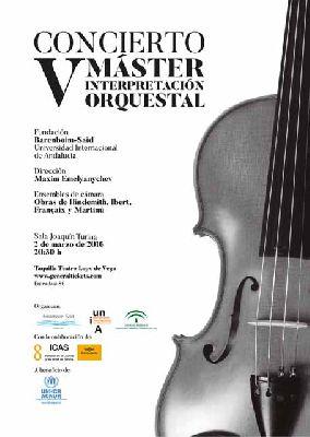 Concierto: V Máster en Interpretación Orquestal en la Sala Turina de Sevilla