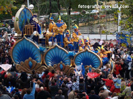 Foto de la Cabalgata de Reyes Magos de Sevilla en 2010