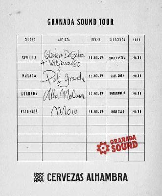 Cartel del ciclo de conciertos Granada Sound Tour 2019