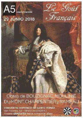 Concierto: Le goût français por A5 vocal ensemble en Santo Tomás de Sevilla