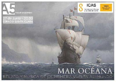 Cartel del concierto Mar Océana de A5 vocal ensemble en el Espacio Turina de Sevilla 2020