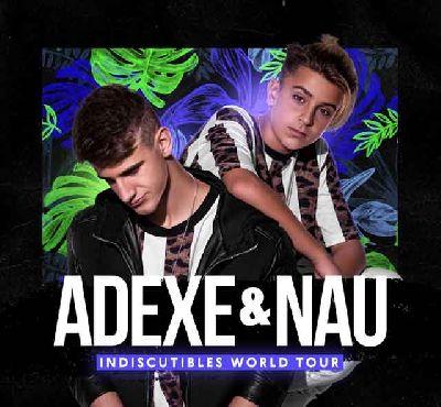 Cartel de la gira Indiscutibles World Tour de Adexe y Nau