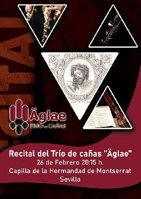 Cartel del concierto del Trío Äglae en la Capilla de Montserrat de Sevilla 2020