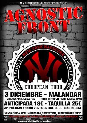 Concierto: Agnostic Front en la Sala Malandar Sevilla