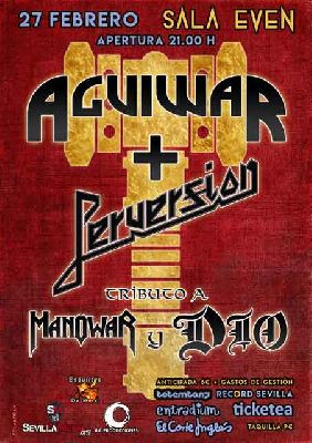 Cartel del concierto de Aguiwar y Perversion en la Sala Even Sevilla 2019