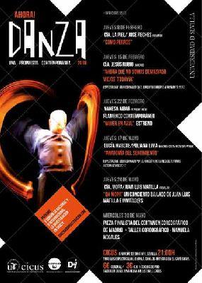 Programación del ciclo ¡Ahora danza! 2018 en el CICUS Sevilla