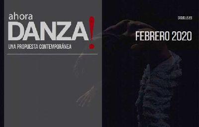 Cartel del ciclo ¡Ahora danza! 2020 en el CICUS Sevilla