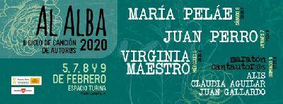 Cartel Al alba (ciclo canción de autores) 2020