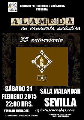 Concierto 35 aniversario de Alameda en Malandar Sevilla