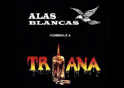 Cartel del concierto Homenaje a Triana del grupo Alas Blancas