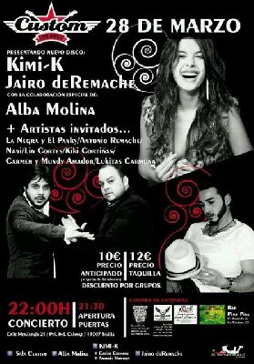 Concierto: Alba Molina, Kimi-K y Jairo Deremache en Custom Sevilla