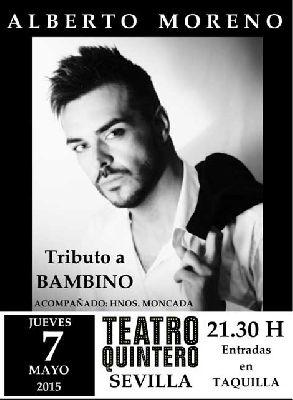 Concierto: Alberto Moreno en el Teatro Quintero de Sevilla