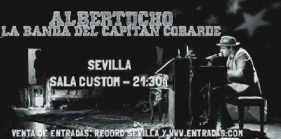 Concierto: Albertucho y la banda del Capitán Cobarde en Custom