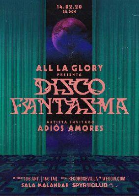 Cartel del concierto de All La Glory y Adiós Amores en Malandar Sevilla 2020