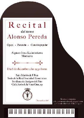 Concierto lírico de Alonso Pereda en RSESAP Sevilla