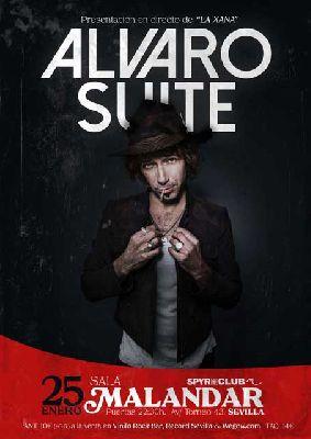 Cartel del concierto de Álvaro Suite en Malandar Sevilla 2020