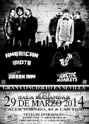 Concierto: American Idiots y Allow en la sala Malandar de Sevilla