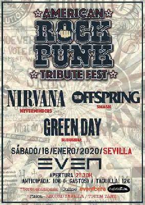 Cartel del concierto de American Rock Punk Festival en la Sala Even Sevilla 2020