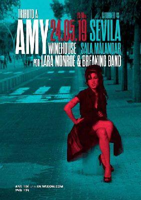 Cartel del concierto de Tributo a Amy Winehouse en Malandar Sevilla 2019