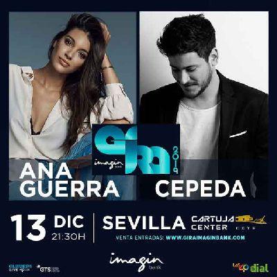 Cartel del concierto de Ana Guerra y Luis Cepeda (Gira imaginBank) en Sevilla 2019
