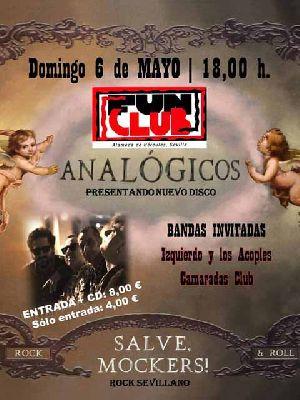 Concierto: Analógicos, Izquierdo y Los Acoples y Camaradas Club en FunClub Sevilla