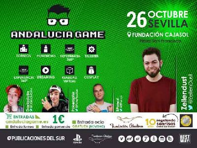 Cartel de Andalucía Game en Cajasol Sevilla 2019