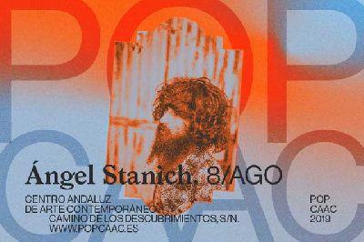Cartel del concierto de Ángel Stanich en Pop CAAC Sevilla 2019