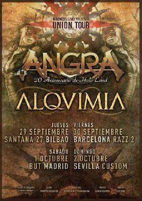 Concierto: Angra y Alquimia en Custom Sevilla