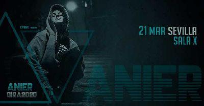 Cartel del concierto de Anier en la Sala X de Sevilla 2020