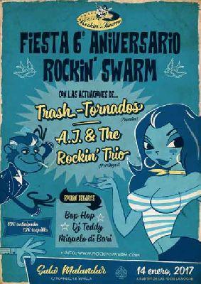 Concierto: 6º aniversario de Rockin'Swarm en Malandar Sevilla 2017