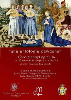 Cartel del concierto Una antología navideña en Colegio de Farmacéuticos Sevilla 2019