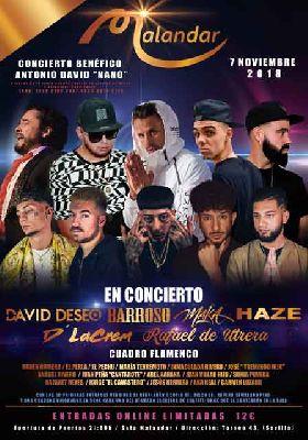 Concierto a beneficio de Antonio David Nano en Malandar Sevilla 2018
