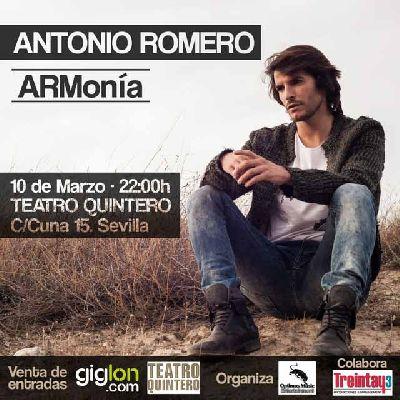 Concierto: Antonio Romero en el Teatro Quintero de Sevilla