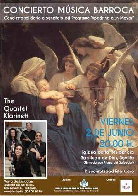 Concierto: The Quartet Klarinett en Residencia de San Juan de Dios de Sevilla