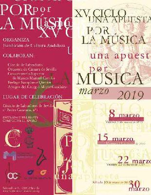 Cartel del XV Ciclo de Conciertos Una apuesta por la música 2019