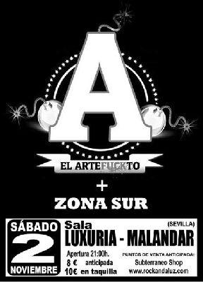 Concierto: El Artefuckto y Zona Sur en Malandar Sevilla