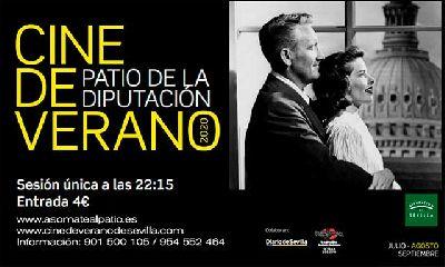 Cartel del cine de verano Asómate al patio 2020 en Sevilla