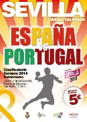 Balonmano: España - Portugal en Sevilla
