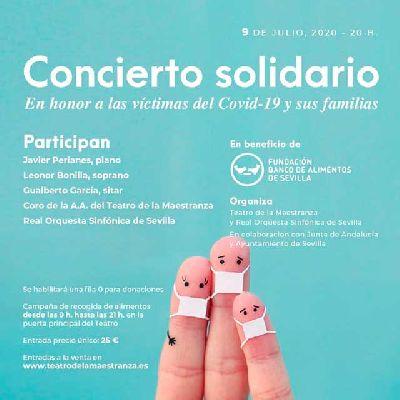 Cartel del concierto pro Banco de Alimentos en el Teatro de la Maestranza de Sevilla 2020