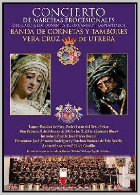 Concierto de marchas dedicado a donantes de órganos en Sevilla