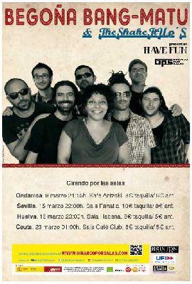 Concierto: Begoña Bang-Matu & the Shake It Ups en Sevilla