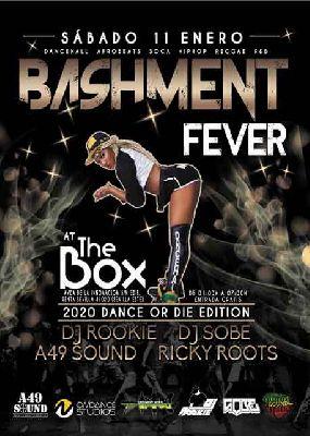 Cartel de Bashment Fever en Sala The Box Sevilla (enero 2020)