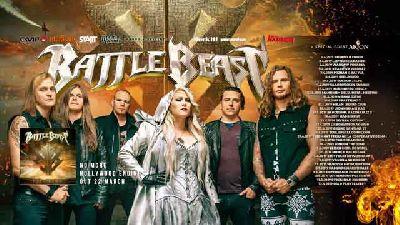 Cartel de la gira  No More Hollywood Endings 2019 de Battle Beast