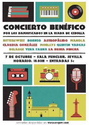 Concierto a beneficio de Cebolla (Toledo) en FunClub Sevilla 2018